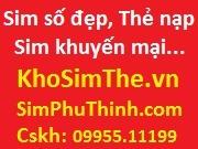 Sim số đẹp Vietnamobile tổng hợp Phú Thịnh, Chiết khấu 30%