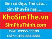 Sim VinaPhone: Tặng 5,5Gb/tháng liên tiếp 09 tháng: giá 190k