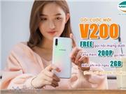 Viettel V200 cho sim khách đang dùng = Miễn phí nội mạng, 200 phút liên mạng và 2GB data/ngày. Nhận đăng ký, Gán gói cho khách hàng