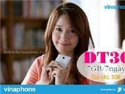Vinaphone Đăng ký gói DT30 nhận 7GB chỉ với 30k/tuần