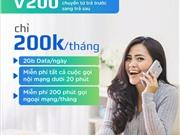 Viettel Gói trả sau V200 miễn phí 20 phút gọi đầu tiên + 2GB/ngày chỉ 200k/tháng