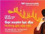 Sim Vietnamobile gói gọi quốc tế 990đ/phút