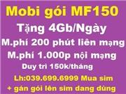 Mobi gói MF150 Mua sim mới và gán gói sim đang dùng
