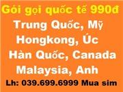 Gói gọi quốc tế 990đ/phút