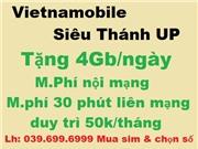 Sim vietnamobile siêu thánh UP