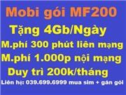 Mobi gói MF200 Mua sim mới và gán gói sim đang dùng