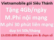 Vietnamobile gói Thánh UP - giá chỉ từ 120k (T70)