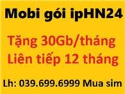 Sim Mobi gói IPHN24 - Trọn gói 12 tháng