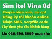 Sim iTell Vina 0đ, chuyên nhận code, xác thực tk