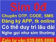 Sim vietnamobile 0đ chuyên nhận code, xác nhận OPT